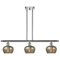 Innovations Lighting 516-3I-PC-G96 Fenton 3 Light 42 inch Polished Chrome Island Light Ceiling Light