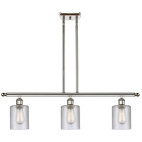 Innovations Lighting 516-3I-PN-G112-LED Cobbleskill LED 36 inch Polished Nickel Island Light Ceiling Light Ballston