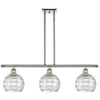 Innovations Lighting 516-3I-PN-G1213-8-LED Deco Swirl LED 36 inch Polished Nickel Island Light Ceiling Light Ballston