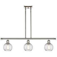 Innovations Lighting 516-3I-PN-G1214-6 Small Twisted Swirl 3 Light 36 inch Polished Nickel Island Light Ceiling Light Ballston