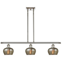 Innovations Lighting 516-3I-PN-G96-LED Fenton LED 36 inch Polished Nickel Island Light Ceiling Light Ballston
