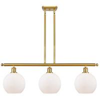 Innovations Lighting 516-3I-SG-G121 Athens 3 Light 36 inch Satin Gold Island Light Ceiling Light Ballston
