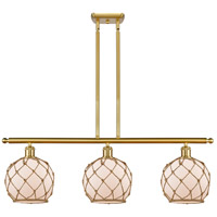 Innovations Lighting 516-3I-SG-G121-8RB Farmhouse Rope 3 Light 36 inch Satin Gold Island Light Ceiling Light Ballston