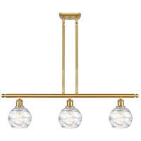 Innovations Lighting 516-3I-SG-G1213-6 Small Deco Swirl 3 Light 36 inch Satin Gold Island Light Ceiling Light Ballston