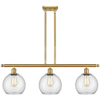 Innovations Lighting 516-3I-SG-G122-8CSN Farmhouse Chicken Wire 3 Light 36 inch Satin Gold Island Light Ceiling Light Ballston