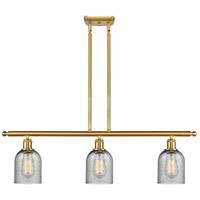 Innovations Lighting 516-3I-SG-G257 Caledonia 3 Light 36 inch Satin Gold Island Light Ceiling Light Ballston