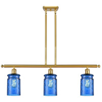 Satin Gold Glass Candor Island Lights