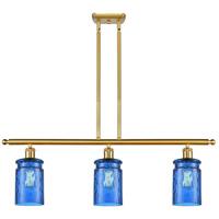 Innovations Lighting 516-3I-SG-G352-BL Candor 3 Light 36 inch Satin Gold Island Light Ceiling Light