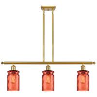 Innovations Lighting 516-3I-SG-G352-COR Candor 3 Light 36 inch Satin Gold Island Light Ceiling Light