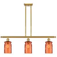 Innovations Lighting 516-3I-SG-G352-TUR Candor 3 Light 36 inch Satin Gold Island Light Ceiling Light
