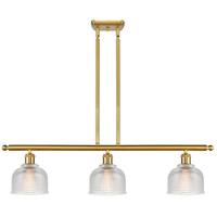 Innovations Lighting 516-3I-SG-G412 Dayton 3 Light 36 inch Satin Gold Island Light Ceiling Light Ballston