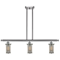 Innovations Lighting 516-3I-SN-220 Bleecker 3 Light 42 inch Brushed Satin Nickel Island Light Ceiling Light
