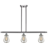 Innovations Lighting 516-3I-SN-513 Barrington 3 Light 42 inch Brushed Satin Nickel Island Light Ceiling Light