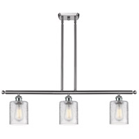 Innovations Lighting 516-3I-SN-G112-LED Cobbleskill LED 42 inch Brushed Satin Nickel Island Light Ceiling Light