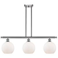 Innovations Lighting 516-3I-SN-G121-LED Athens LED 36 inch Satin Nickel Island Light Ceiling Light Ballston