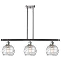 Innovations Lighting 516-3I-SN-G1213-8-LED Deco Swirl LED 36 inch Brushed Satin Nickel Island Light Ceiling Light Ballston