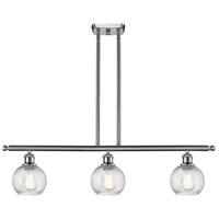 Innovations Lighting 516-3I-SN-G1214-6 Small Twisted Swirl 3 Light 36 inch Satin Nickel Island Light Ceiling Light Ballston