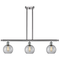 Innovations Lighting 516-3I-SN-G122 Athens 3 Light 42 inch Brushed Satin Nickel Island Light Ceiling Light