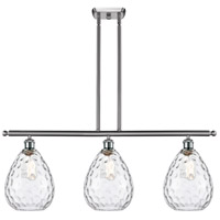 Innovations Lighting 516-3I-SN-G372-LED Large Waverly LED 36 inch Satin Nickel Island Light Ceiling Light Ballston