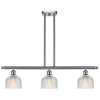 Innovations Lighting 516-3I-SN-G412-LED Dayton LED 36 inch Satin Nickel Island Light Ceiling Light Ballston