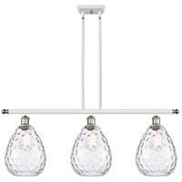 Innovations Lighting 516-3I-WPC-G372-LED Large Waverly LED 36 inch White And Polished Chrome Island Light Ceiling Light Ballston