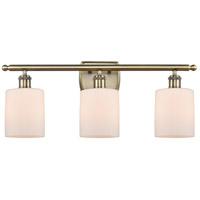 Innovations Lighting 516-3W-AB-G111 Cobbleskill 3 Light 26 inch Antique Brass Bath Vanity Light Wall Light, Ballston