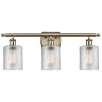 Innovations Lighting 516-3W-AB-G112 Cobbleskill 3 Light 26 inch Antique Brass Bath Vanity Light Wall Light, Ballston