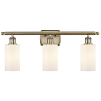 Innovations Lighting 516-3W-AB-G801 Clymer 3 Light 26 inch Antique Brass Bath Vanity Light Wall Light Ballston