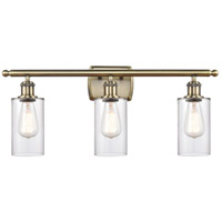 Innovations Lighting 516-3W-AB-G802 Clymer 3 Light 26 inch Antique Brass Bath Vanity Light Wall Light Ballston