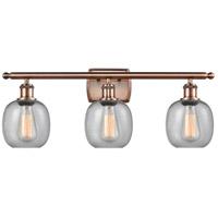 Innovations Lighting 516-3W-AC-G104-LED Belfast LED 26 inch Antique Copper Bath Vanity Light Wall Light Ballston