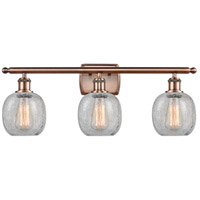 Innovations Lighting 516-3W-AC-G105-LED Belfast LED 26 inch Antique Copper Bath Vanity Light Wall Light Ballston