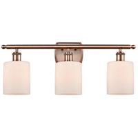 Innovations Lighting 516-3W-AC-G111 Cobbleskill 3 Light 26 inch Antique Copper Bath Vanity Light Wall Light, Ballston