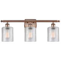 Innovations Lighting 516-3W-AC-G112 Cobbleskill 3 Light 26 inch Antique Copper Bath Vanity Light Wall Light, Ballston