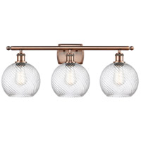 Innovations Lighting 516-3W-AC-G1214-8 Twisted Swirl 3 Light 26 inch Antique Copper Bath Vanity Light Wall Light Ballston
