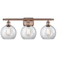 Innovations Lighting 516-3W-AC-G122 Athens 3 Light 26 inch Antique Copper Bath Vanity Light Wall Light Ballston