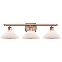 Innovations Lighting 516-3W-AC-G131-LED Orwell LED 26 inch Antique Copper Bath Vanity Light Wall Light Ballston