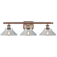 Innovations Lighting 516-3W-AC-G132-LED Orwell LED 26 inch Antique Copper Bath Vanity Light Wall Light Ballston