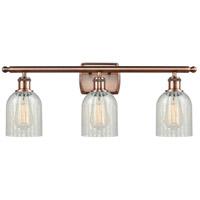 Innovations Lighting 516-3W-AC-G2511-LED Caledonia LED 26 inch Antique Copper Bath Vanity Light Wall Light Ballston