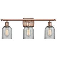 Innovations Lighting 516-3W-AC-G257-LED Caledonia LED 26 inch Antique Copper Bath Vanity Light Wall Light Ballston