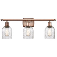 Innovations Lighting 516-3W-AC Bare Bulb 3 Light 26 inch Antique Copper Bath Vanity Light Wall Light Ballston