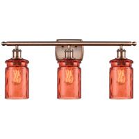Innovations Lighting 516-3W-AC-G352-COR Candor 3 Light 26 inch Antique Copper Bath Vanity Light Wall Light, Ballston