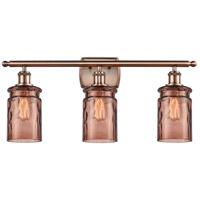 Innovations Lighting 516-3W-AC-G352-TOF Candor 3 Light 26 inch Antique Copper Bath Vanity Light Wall Light, Ballston