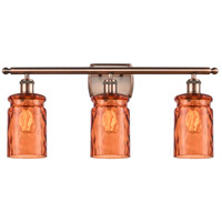 Innovations Lighting 516-3W-AC-G352-TUR Candor 3 Light 26 inch Antique Copper Bath Vanity Light Wall Light, Ballston