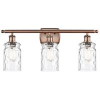 Innovations Lighting 516-3W-AC-G352-LED Candor LED 26 inch Antique Copper Bath Vanity Light Wall Light, Ballston