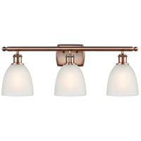 Innovations Lighting 516-3W-AC-G381-LED Castile LED 26 inch Antique Copper Bath Vanity Light Wall Light Ballston