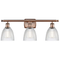 Innovations Lighting 516-3W-AC-G382-LED Castile LED 26 inch Antique Copper Bath Vanity Light Wall Light Ballston