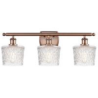 Innovations Lighting 516-3W-AC-G402 Niagra 3 Light 26 inch Antique Copper Bath Vanity Light Wall Light Ballston