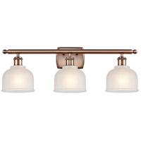 Innovations Lighting 516-3W-AC-G411-LED Dayton LED 26 inch Antique Copper Bath Vanity Light Wall Light Ballston