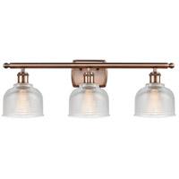 Innovations Lighting 516-3W-AC-G412-LED Dayton LED 26 inch Antique Copper Bath Vanity Light Wall Light Ballston