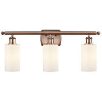 Innovations Lighting 516-3W-AC-G801 Clymer 3 Light 26 inch Antique Copper Bath Vanity Light Wall Light, Ballston